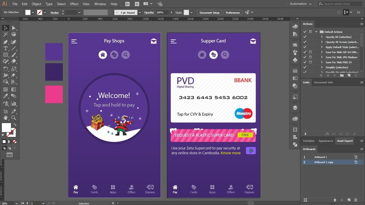 Layout App Pay Shops Adobe Illustrator CC 2018 | UI and UX ...