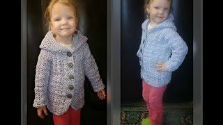 кардиган на девочку 4 года, вязание крючком