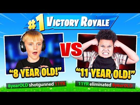 8 YEAR OLD vs 11 YEAR OLD (Fortnite 1v1)