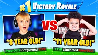 8 YEAR OLD vs 11 YEAR OLD (Fortnite 1v1)