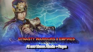 Dynasty Warriors 8 Empires - PS4 - All new Musou Attacks + Rages