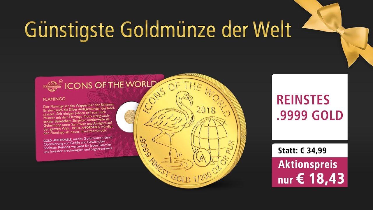 Günstigste Goldmünze Der Welt Flamingo 2018 Youtube