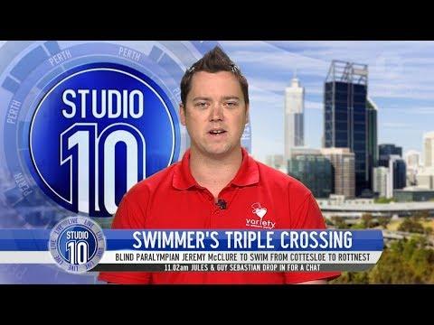Download Youtube: Paralympian Jeremy McClure Set To Swim 60km Triple Rottnest Crossing | Studio 10