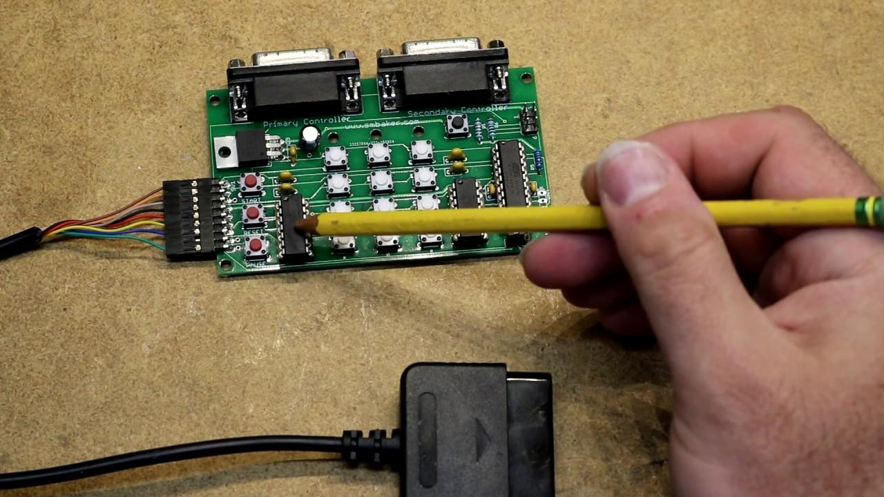 atari 5200 playstation 2 dual shock controller adapter dr scott m baker [ 1280 x 720 Pixel ]
