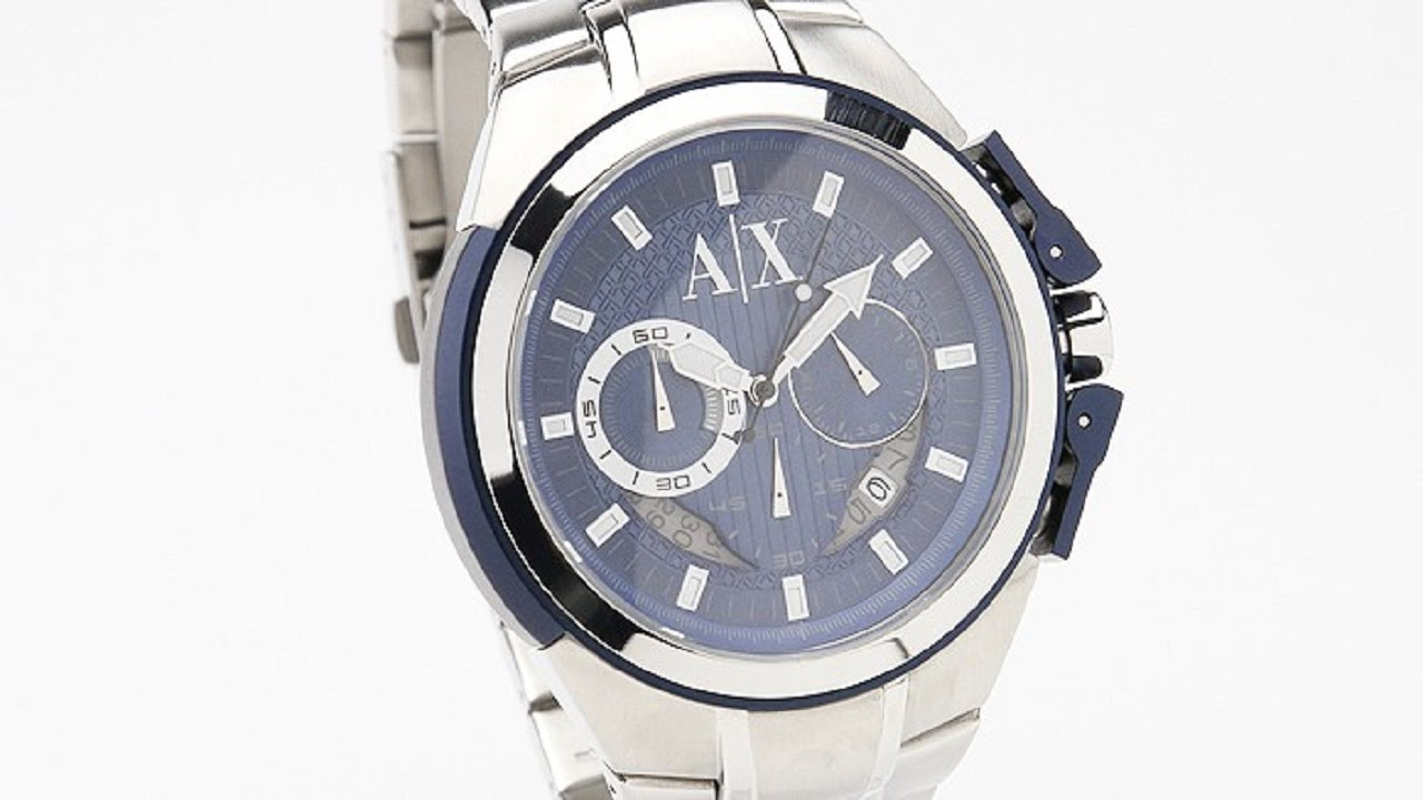 4a9348de90c Armani Watches - 3 Great Armani Exchange Chronograph Blue Dial Stainless  Steel Mens Watches