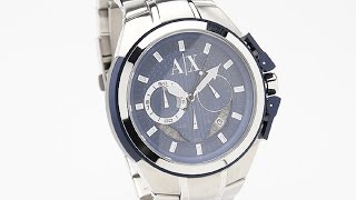 armani watches 3 great armani exchange chronograph blue dial stainless steel mens watches