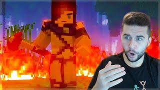 THE SADDEST  ENDING! REACTING TO BATTLE ROYALE PART 3 Minecraft Animation Reaction
