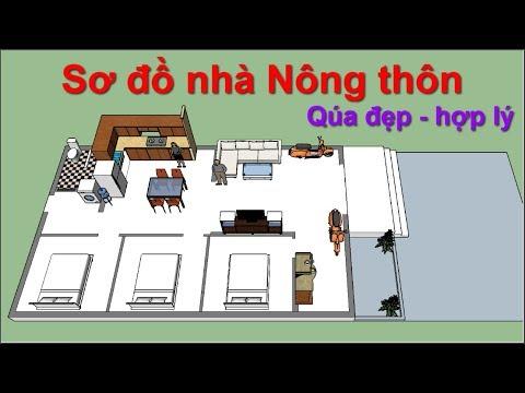Sơ đồ nhà cấp 4 ở Nông Thôn quá đẹp - nice house