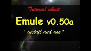 tutorial Emule 0.50a