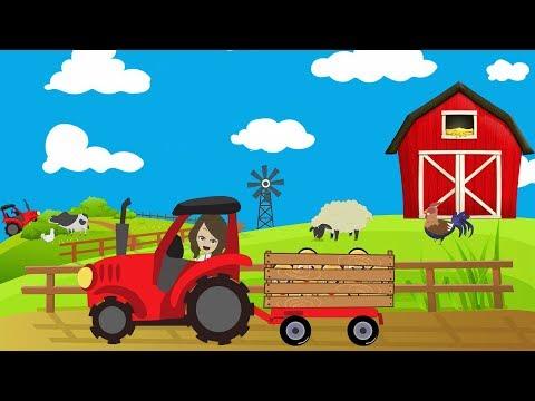 Загадки про овощи для детей 🍆Трактор на ферме 🍅Стихи про овощи для малышей/Алиса Звукова