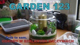 GARDEN 123 - 4 mini ogródki w szklanych naczyniach. Zrób to sam.