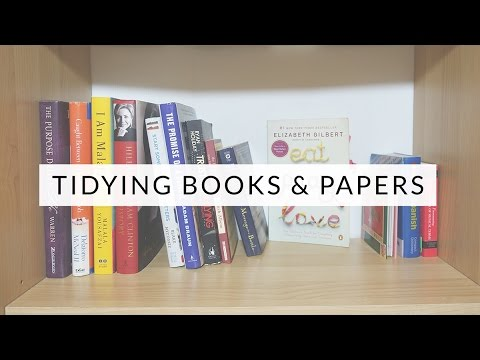 Tidying With KonMari Books Papers