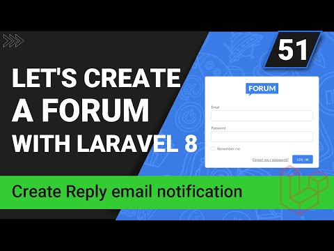 Create Reply Email Mail Class - Create a forum with Laravel 8 - Part 51