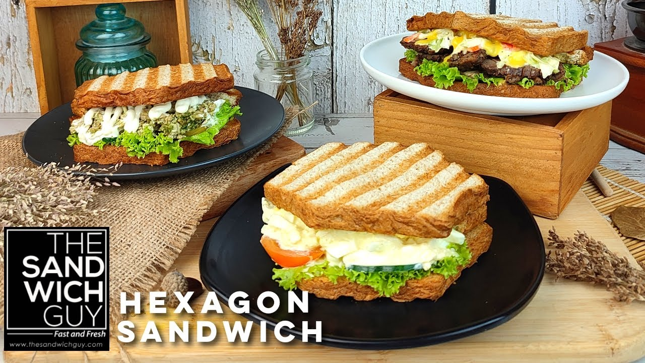 Hexagon Sandwiches from The Sandwich Guy!