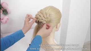 Легкая и быстрая прическа на длинные волосы