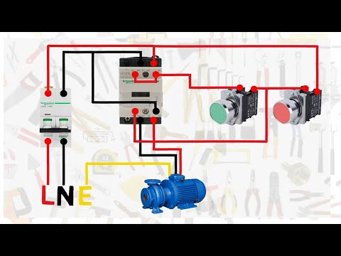 Contactor Wiring Diagram Single Phase from i.ytimg.com