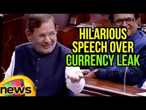 Sharad Yadav Hilarious Speech Over Currency Leak | Rajya Sabha Winter Session | Mango News