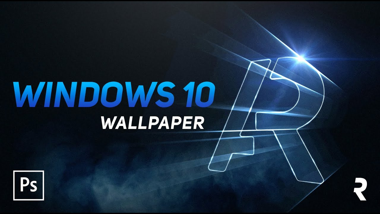 Tutorial Photoshop Wallpaper Estilo Windows 10