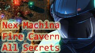 Nex Machina : Stage 3 Walkthrough All Secrets (Fire Cavern)