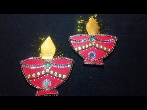 Paper diya decoration ideas at home ||Diwali wall decor || Best out of waste from wedding/shadi card