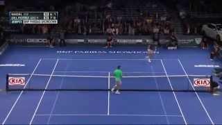 Rafael Nadal vs. Juan Martin del Potro - funny double tweener