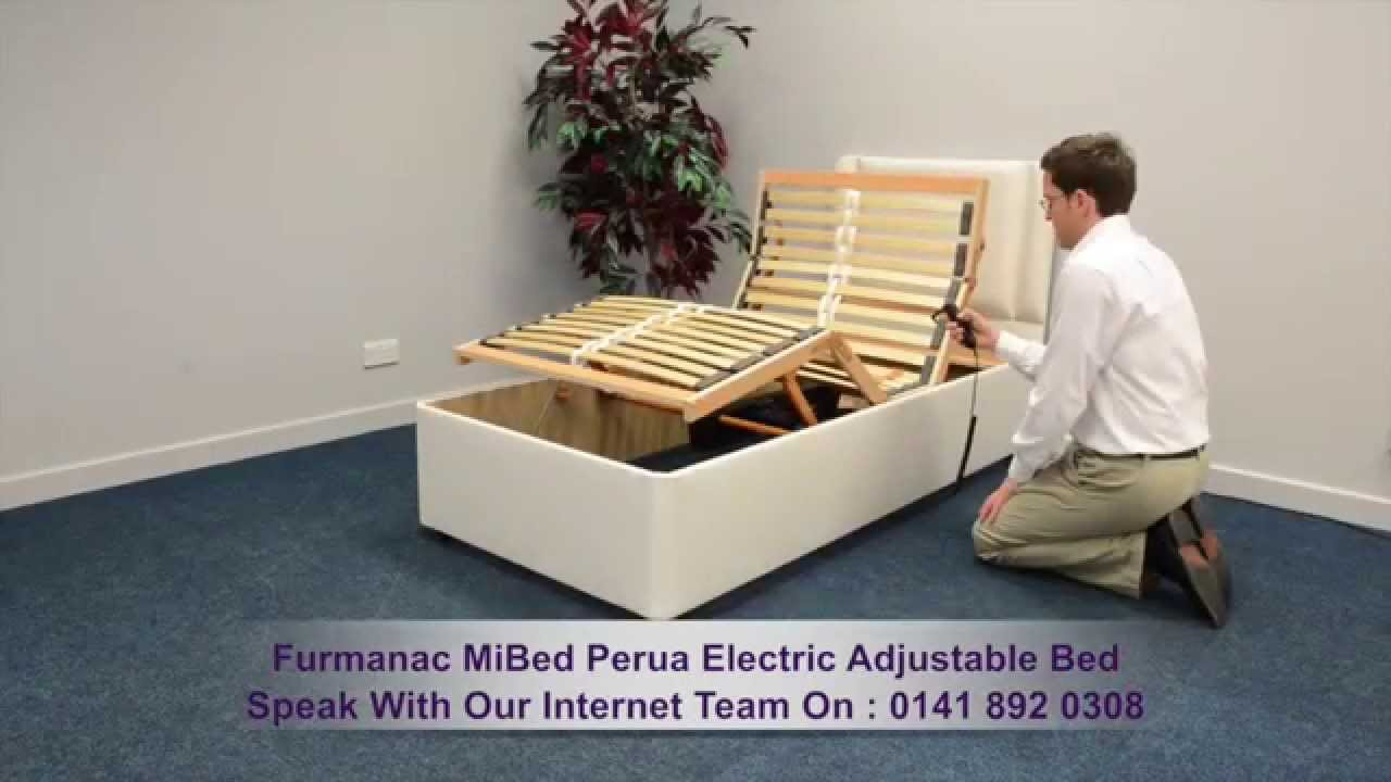 furmanac mibed perua electric adjustable bed youtube - Electric Adjustable Bed Frames