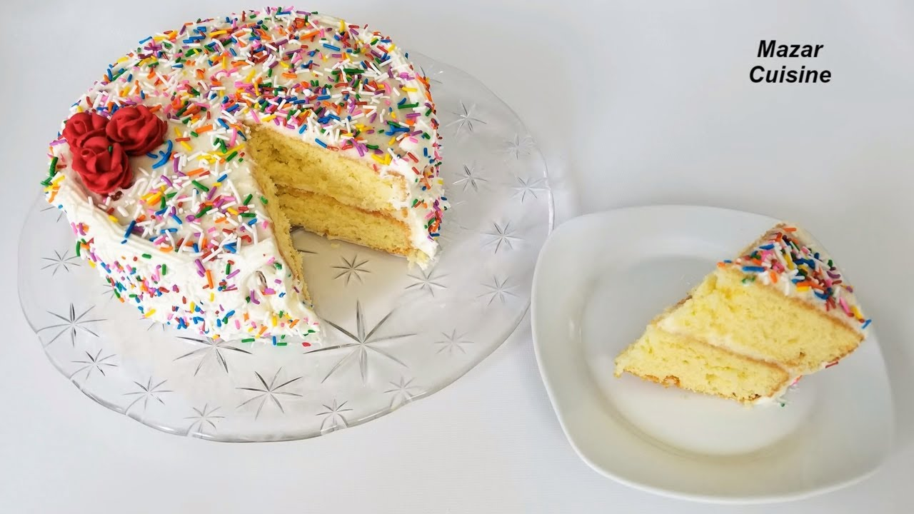 Birthday Cake Recipe Easy Simple Sponge Buttercream