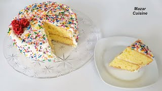 Birthday Cake Recipe Easy Simple Sponge Cake Recipe Birthday Buttercream Recipe کیک سالگره تولد