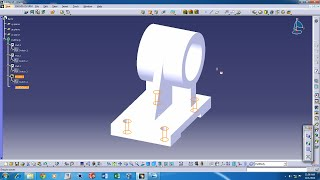 CATIA V5  - Basic Part design tutorial with audio