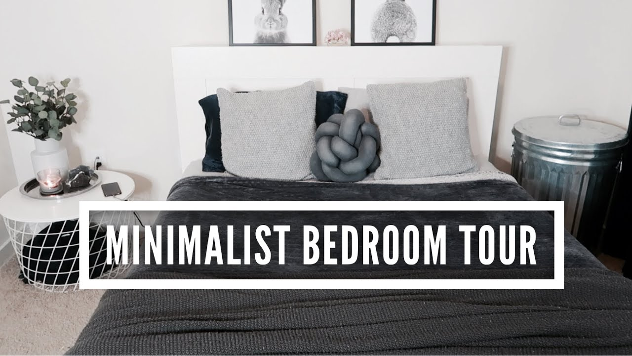 realistic minimalist apartment bedroom tour thrifted ikea on a budget