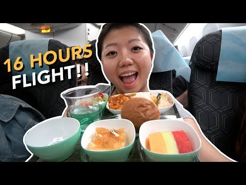 EVA Air ECONOMY FOOD Review New York To Taipei