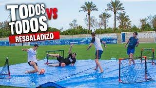 RESBALADIZO TODOS VS TODOS ¡Retos de Fútbol!