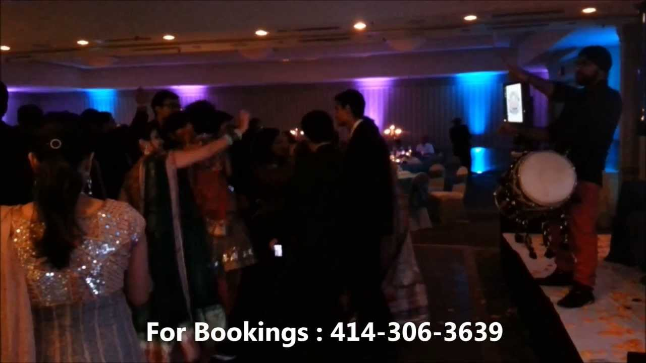 Rickydholi Playing Dhol At Baraatreception In Madison Wi Youtube