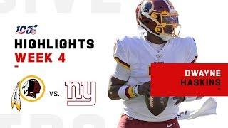 Every Dwayne Haskins Run & Throw vs. Giants