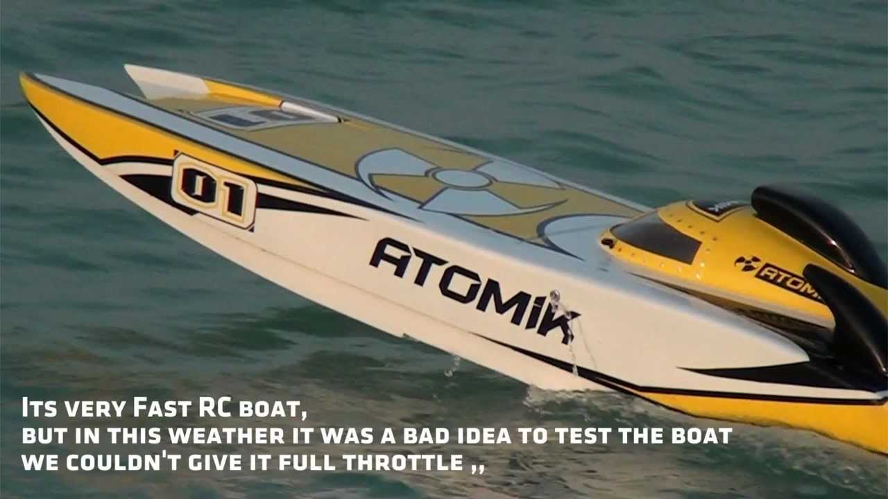 1st Test Atomik Arc Large Scale Electric Rc Boat