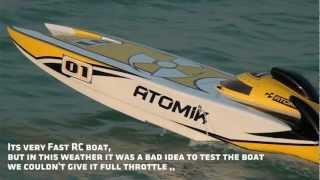 1st Test - ATOMIK ARC Large Scale Electric RC Boat