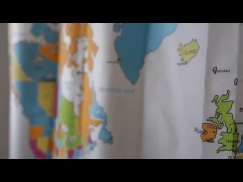 The New 2016 World Map Shower Curtain