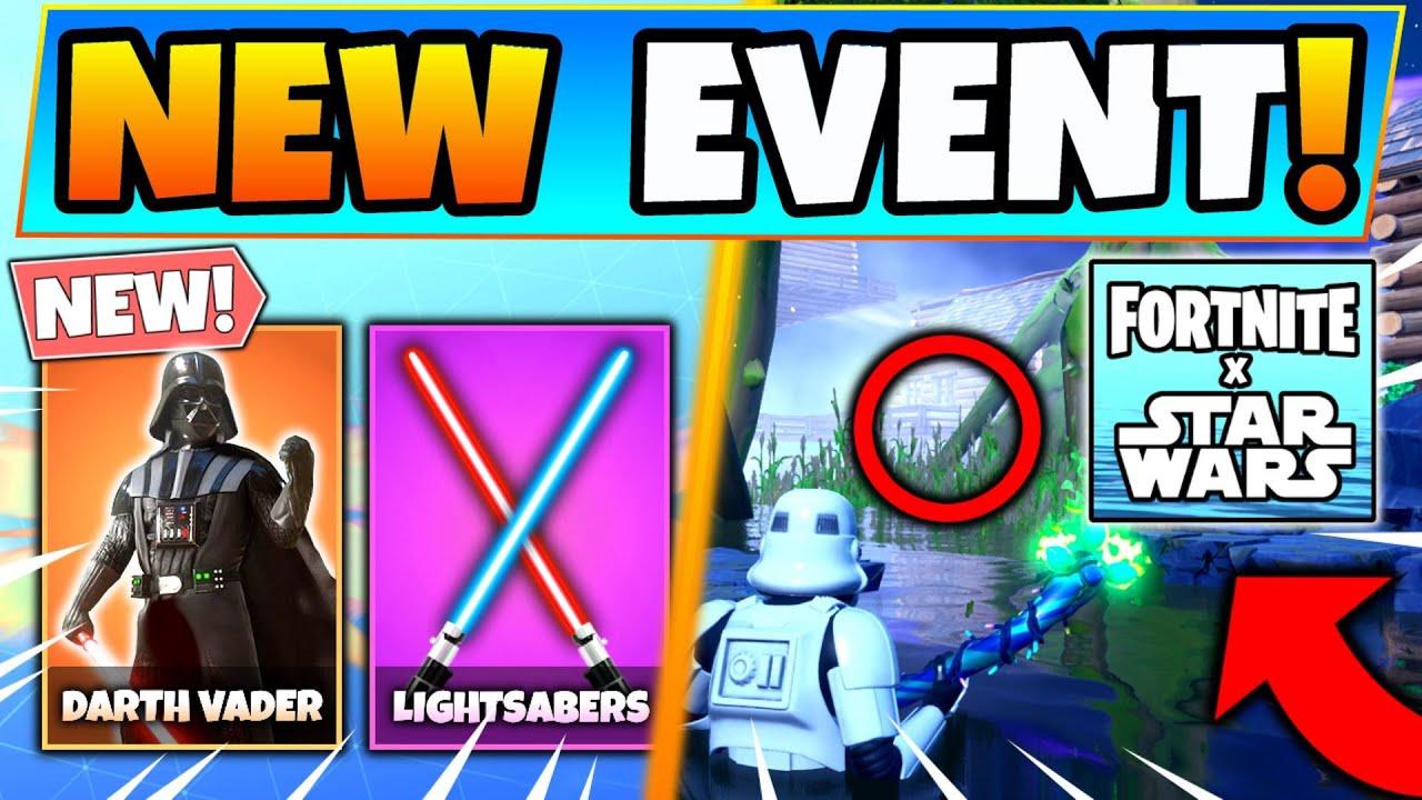 Fortnite Star Wars Event All Details Free Rewards Darth Vader Challenges Battle Royale Update Youtube