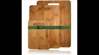 Bamboo Cutting Board Set - 3 Piece All In One Pack - Strong And Durable Hard Wood Boards