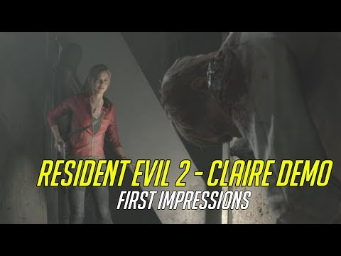 Resident Evil 2 Remake (Claire Demo) - First Impressions | ESGS 2018