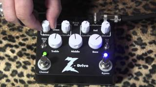 Dr Z Z-Drive Overdrive demo with Antidote head/cab & MJT Strat