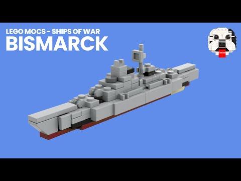Lego Mocs Ships Of War Mini Lego Bismarck Battleship Video