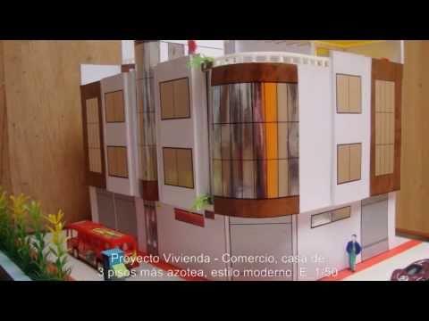 Casa moderna 3 pisos youtube - Fachadas de locales comerciales ...