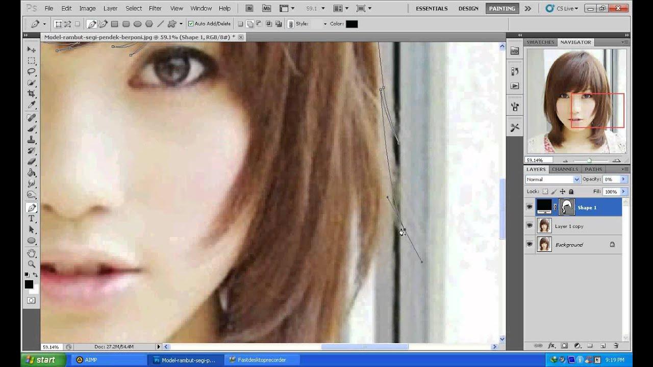 Tutorial membuat vektor kartun photoshop part 2 coloring and shading -  Part 1 Tutorial Cara Membuat Rambut Vexel Shape