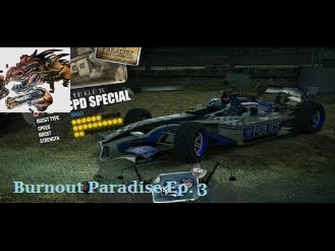 Burnout Paradise Ep. 3 Golden F1 Police Car