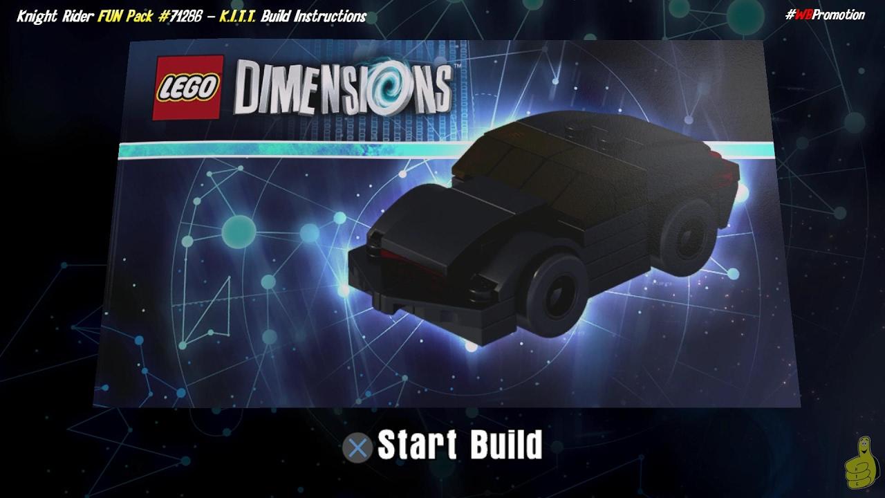 lego dimensions kitt build knight rider fun pack htg youtube