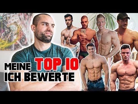 Meine TOP 10 FITNESSYOUTUBER / Wer hat den besten Körper?