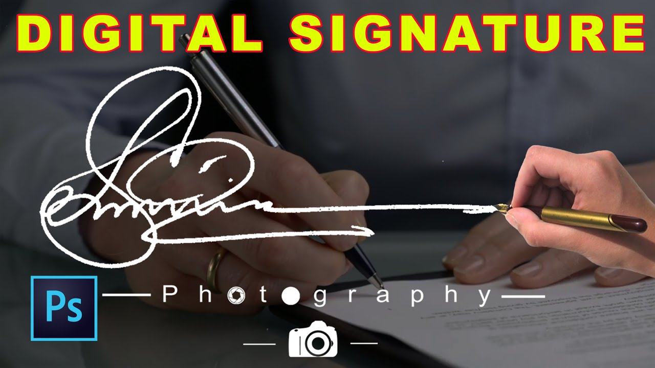 how to create own handwritten signature logo for photography  ud83d udcf7