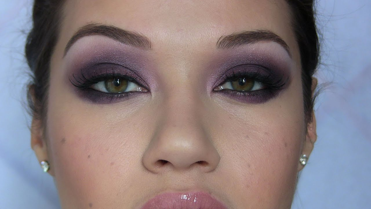 dark purple smoky eye makeup tutorial eman youtube