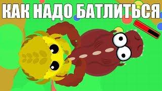 Как надо БАТЛИТЬСЯ в мопе ио Mope.io Меня пытаются сливать )))